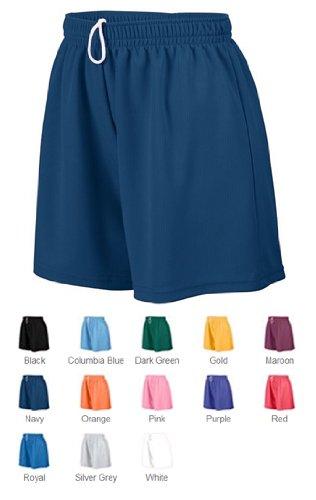 Augusta Sportswear 960 Women's Wicking Mesh Short Black Medium