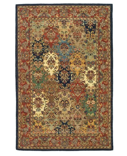Safavieh Heritage Collection HG911A Handmade Hand-Spun Wool Area Rug, 8-Feet by 10-Feet, Multicolor and Burgundy