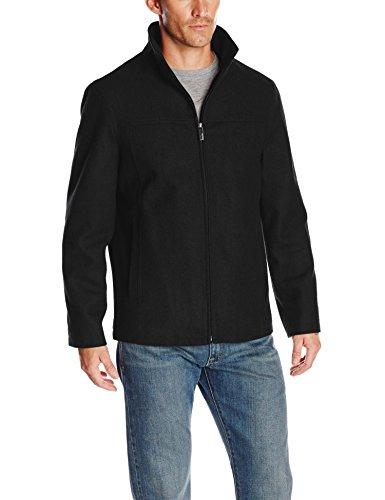Perry Ellis Men's Tall Melton Wool Jacket, Black, X-Large/Tall