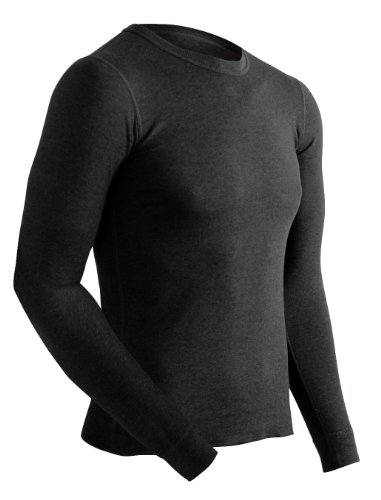 ColdPruf Men's Platinum Dual Layer Long Sleeve Crew Neck Top, Black, X-Large