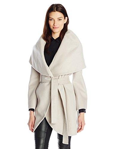 T Tahari Women's Marla Wool Wrap Coat, Macrame, Small