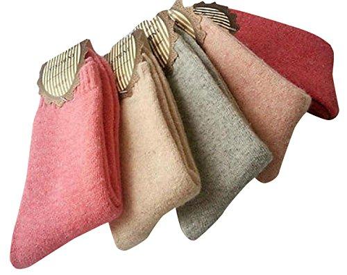 5 Pairs Soft Comfortable Warm Women's Wool Cashmere Socks