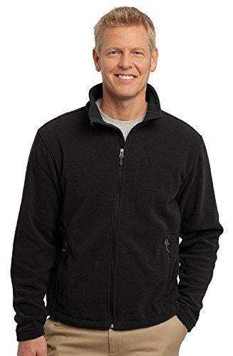 Port Authority Men's Soft Fleece Full Zip Jacket,Large,Black