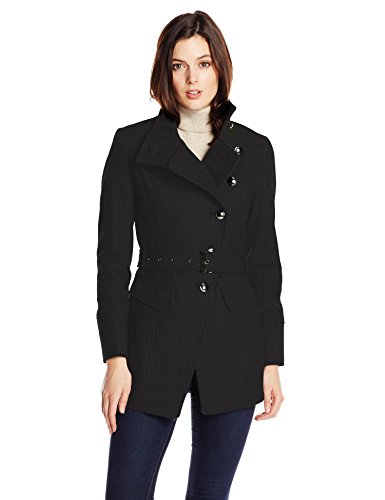 Kenneth Cole New York Women's Asymmetric Military Wool-Blend Coat
