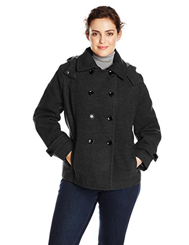 Calvin Klein Women's Plus-Size Double-Breasted Coat