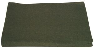 Olive Drab Extremely Warm Home/Camping Wool Blanket – 60 x 80 Inches