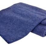Creswick Australian Mills Hobart Machine Washable Australian Wool Blend Blanket, Full/Queen, Denim