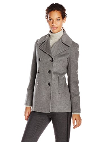 Calvin Klein Women's Double-Breasted Classic Peacoat