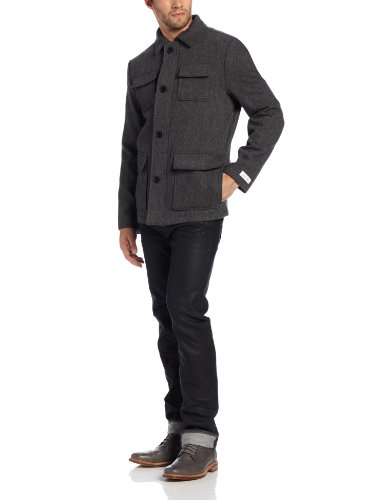 Calvin Klein Men's Broken Twill Four Pocket, Medium Grey, Large