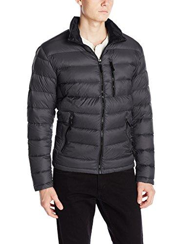 Calvin Klein Men's Packable Down Jacket, Titanium, Small