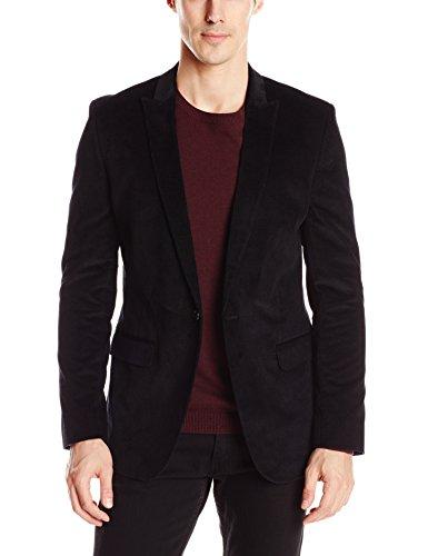 Calvin Klein Sportswear Men's Velvet Shawl Collar Sport Coat, Black, Medium