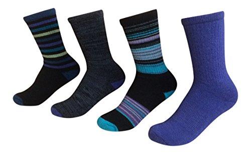kirkland signature womens trail sock pack of 4 one size dark