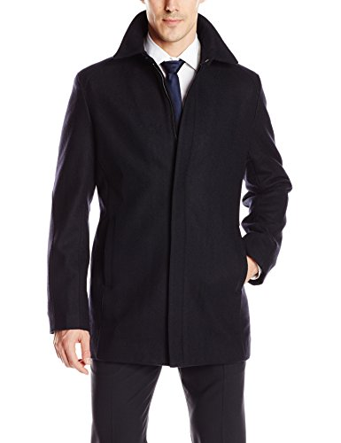Perry Ellis Men's Solid Wool Top Coat