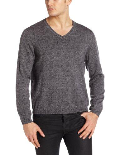Calvin Klein Sportswear Men's Solid Merino V-Neck Sweater