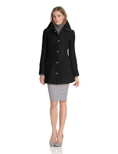 Jessica Simpson Women's Long Braided-Wool Coat