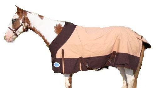 Derby Originals Horse Tack Platinum Canvas Winter Blanket Wool Lining – 81″