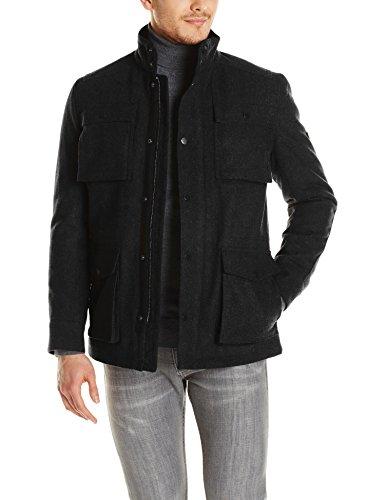 Ben Sherman Men's 4 Pocket Melton Coat