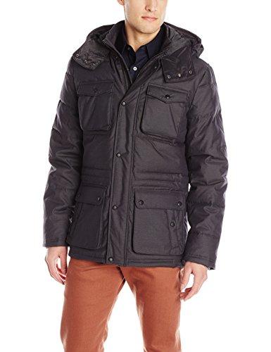 Calvin Klein Sportswear Men's Micro Texture 4-Pocket Quilted Jacket, True Grey, Medium