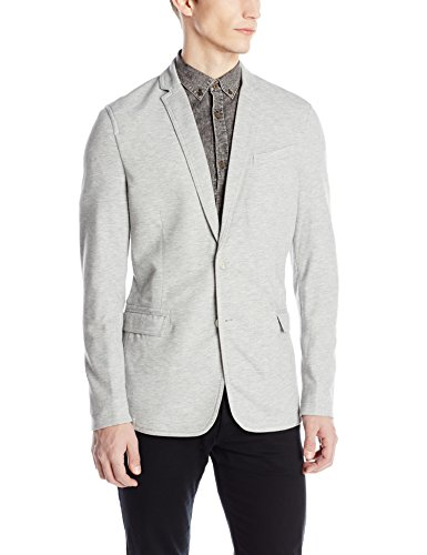 Calvin Klein Jeans Men's Pique Blazer, Fossil Heather, Small