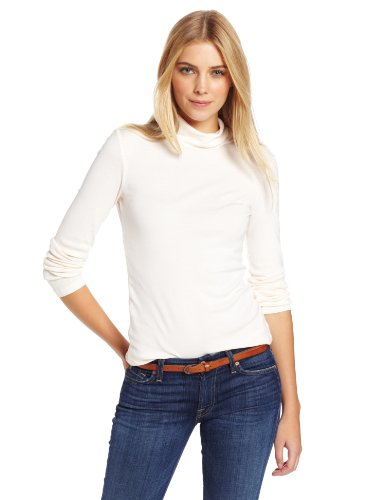 Splendid Women's 1×1 Long Sleeve Turtleneck Top