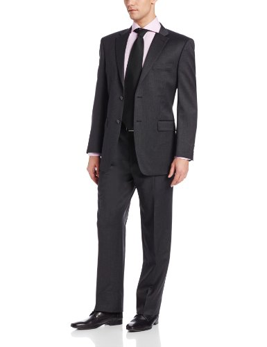 Jones New York Men's Trent Solid Two-Button Side-Vent Suit