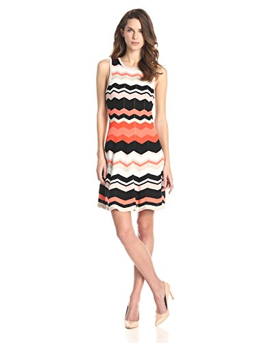 Trina Turk Women's Newton Pointelle Stripe Stitch Sweater Dress
