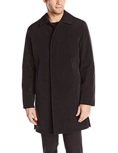 Calvin Klein Men's Park Raincoat with Removable Liner, Black, 38/Small