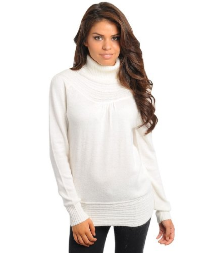 247 Frenzy Women's Knit Turtle Neck Sweater