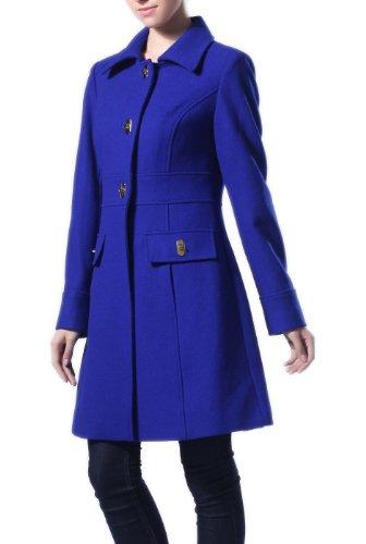 BGSD Women's Signature 'taylor' Wool Blend Turn Key Single Breasted Coat