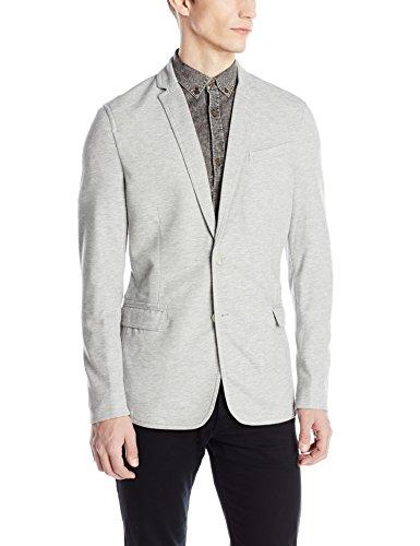 Calvin Klein Jeans Men's Pique Blazer, Fossil Heather, Large