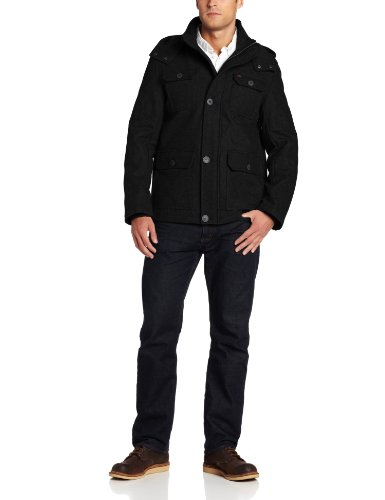 Levi's Men's Melton Four-Pocket Hooded Jacket