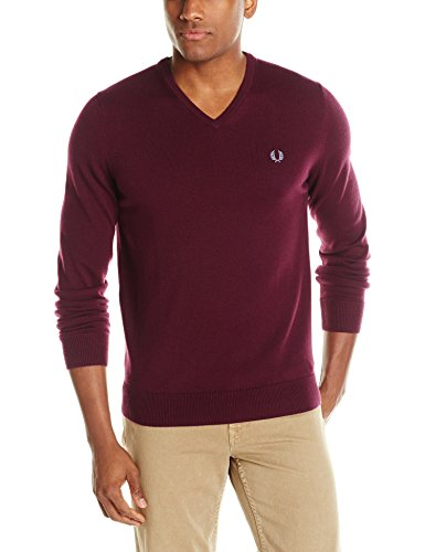 Fred Perry Men's Classic Tipped V-Neck Sweater