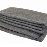 Shefko 'Warden' Wool Blanket – Made In USA – Indoors / Outdoors 80% Wool 66″ x 84″ Grey – Durable, Warm, Flame Retardant, Soft And Machine Washable – Fits Twin / Full Size Beds – Must Have In Any Car Trunk