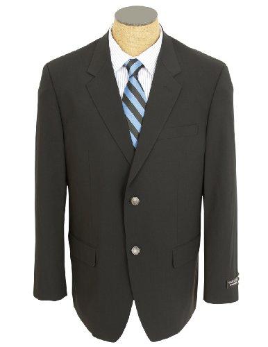 Gianco Polo Mens Solid Black Wool Sport Coat Blazer