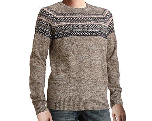 Urban Pipeline Fairisle Men's Hickory Sweater – Large