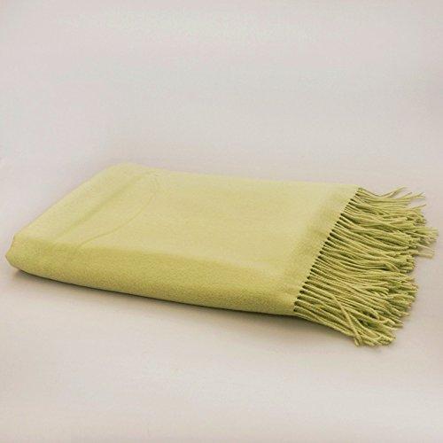 "Green Tea Wool Throw Blanket. 50х70"". Light Green"