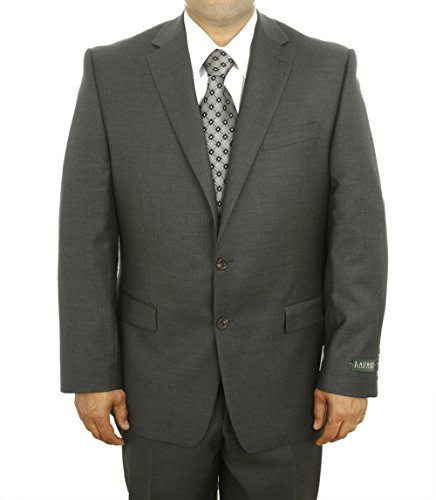 Ralph Lauren Mens 2 Button Flat Front Solid Charcoal Gray Wool Suit Separate