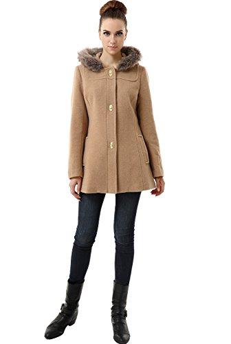 BGSD Women's 'Lana' Wool Blend Turn Key Hooded Parka Coat