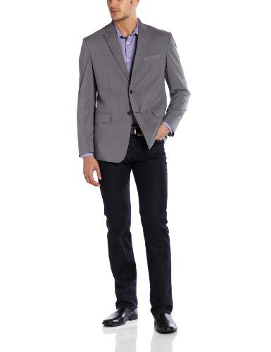 Calvin Klein Men's Tech Tick Stripe Jacket, Grey Stone, Large