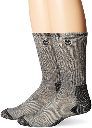 Timberland Men's 2 Pack Heavy Weight Wool Hiker Sock, Black, One Size