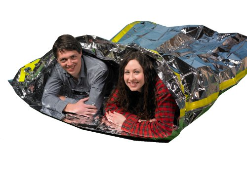 Emergency Survival Mylar Thermal 2 Person Sleeping Bag – Accommodates 2 Adults – 64″ X 87″- by Grizzly Gear
