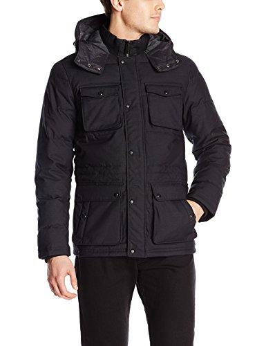 Calvin Klein Men's Micro Texture 4-Pocket Quilted Jacket, Black, Large