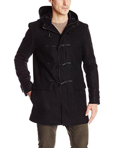 Calvin Klein Men's Wool Toggle Coat, Black, XX-Large