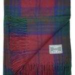 Classic Wool Knee Blanket Throw Rug in Lindsay Tartan