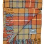 Classic Wool Knee Blanket Throw Rug in Antique Buchanan Tartan