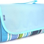 70″x56″ Beach Blanket/Picnic Blanket/Camping Blanket/Water Proof Blanket/Emergency Blanket from koolsupply, Water Resistant Top with Waterproof and Stain Proof PVC Bottom, Large Size, Easy to Fold, Unfold, Clean, Store and Carry. Enjoy your lovely day with your family and friends NOW!