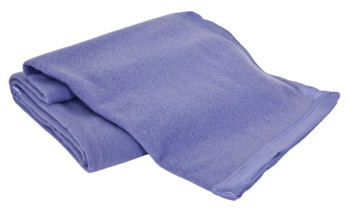 Creswick All-Natural 100-Percent Australian Merino Wool Machine Washable Oversized Blanket, Full/Queen, French Blue