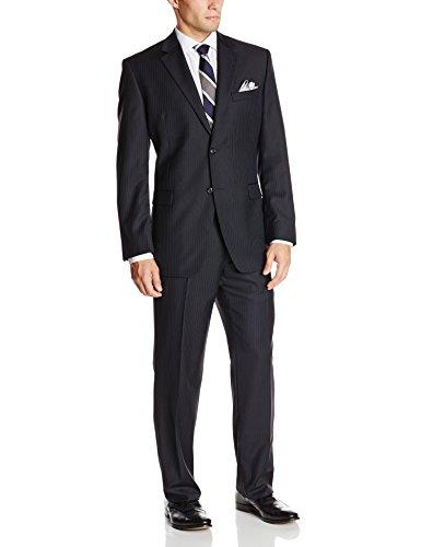 Donald Trump Men's Two Button Side Vent Striped Suit
