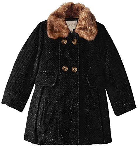 Jessica Simpson Little Girls' Wool Coat with Fur Trim