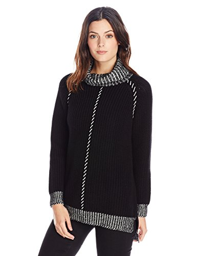 525 America Women's Cotton Turtle Neck with Whipstitch